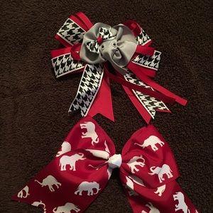 ALABAMA hair bows for girls! 2-pack!